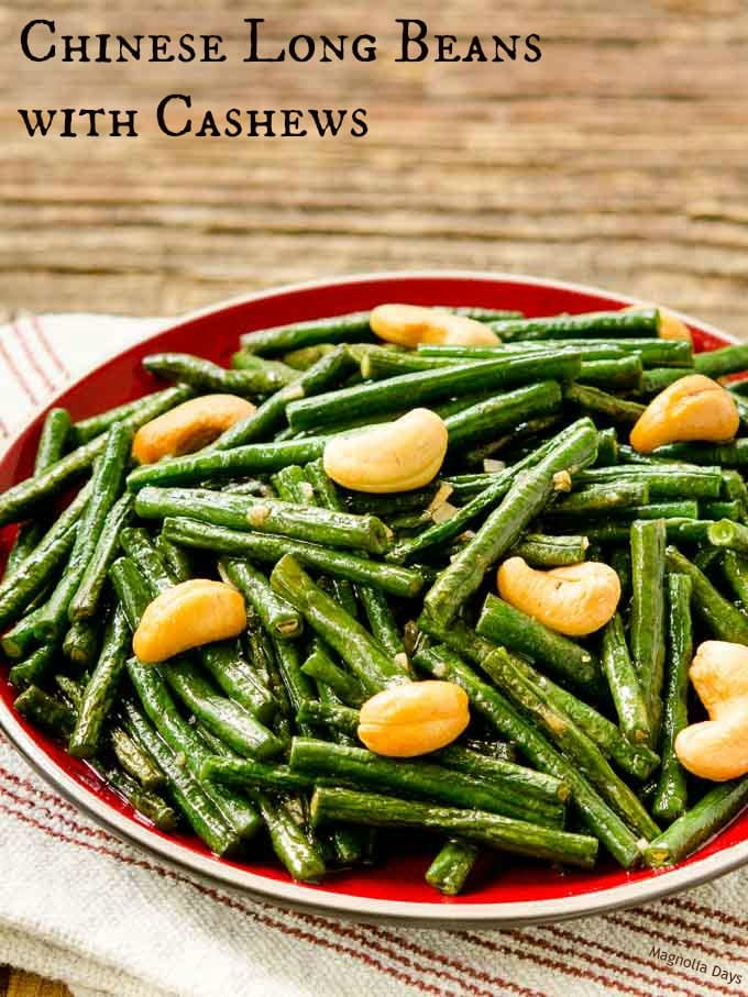 Chinese Long Beans with Cashews is a healthy stir-fry side dish with ...